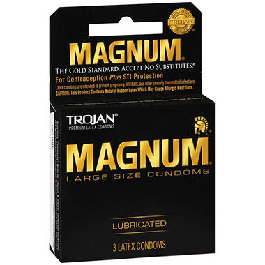 Trojan? Magnum? Condoms - 6 pk. - 3 ct. each