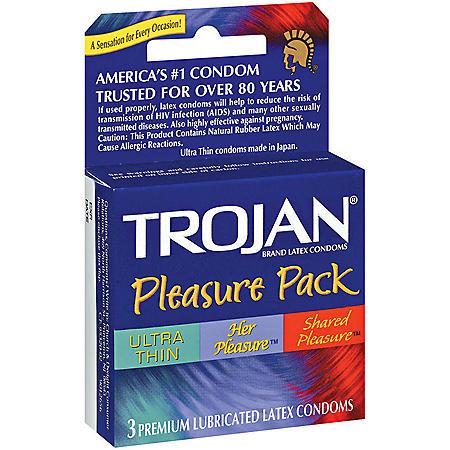 Trojan® Pleasure Pack - 6 pk. - 3 ct. each
