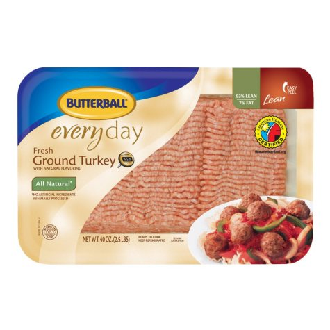 Case Sale: Butterball All Natural Fresh Ground Turkey (priced per pound)