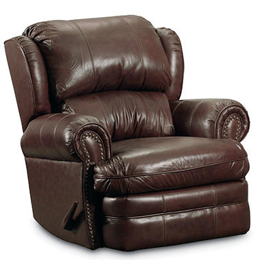 Great Lane Furniture McNeil Top Grain Leather Rocker Recliner