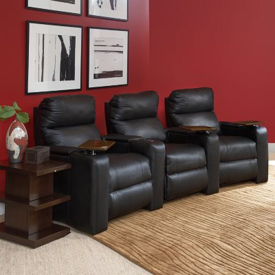 Larson Leather Reclining Home Theater Seating 3Piece Set Sams