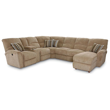 Lane Furniture Robert 4 Piece Reclining Sectional Sofa With Chaise Beige