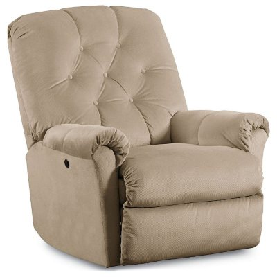 Lane Furniture Jordan Power Rocker Recliner, Beige