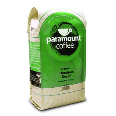 Paramount Coffee™ Hazelnut Decaf Ground  40oz