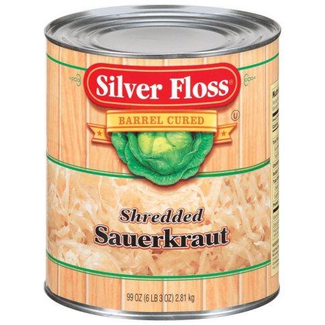 Silver Floss Shredded Sauerkraut - 99 oz.