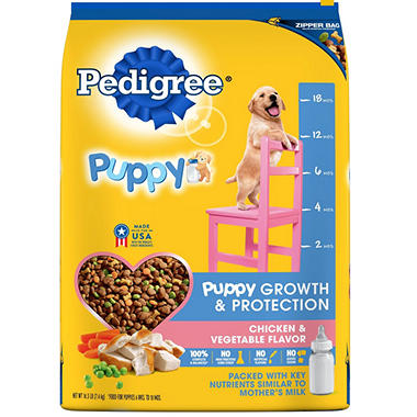 Pedigree Puppy Complete Nutrition Chicken and Vegetable Flavor Dry Dog Food (16.3 lbs.)