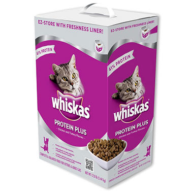 Whiskas Protein Plus Cat Food - 12 lbs.