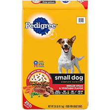 Pedigree Small Dog Targeted Nutirition, Steak and Vegetable Dry Dog Food (20 lbs.)