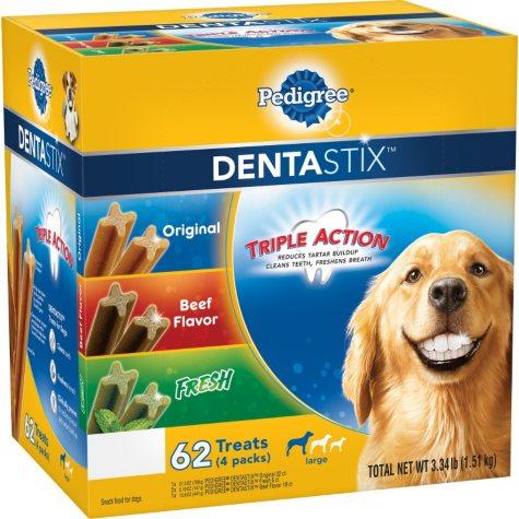 Pedigree DentaStix Dog Treats, Variety Pack (3.34 lbs., 62 ct.)
