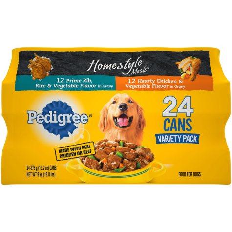 Pedigree Homestyle Choice Cuts Wet Dog Food, Variety Pack (13.2 oz., 24 ct.)