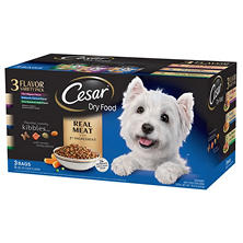 Cesar Dry Dog Food Variety Pack, 15 lbs. (3 flavors, 5 lb. bags)