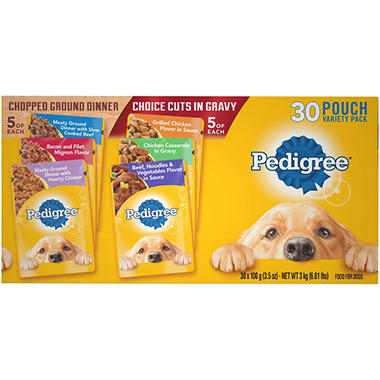 Pedigree Pouches 6 Flavor Variety Pack (30 ct.)