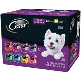 Cesar Canine Cuisine Wet Dog Food, Variety Pack (3.5 oz., 40 ct.)