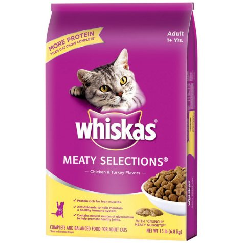 Whiskas® Meaty Selections® Chicken & Turkey Adult Cat Food - 15 lbs.