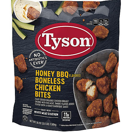 Tyson Honey BBQ Boneless Chicken Bites, Frozen (3.5 lbs.)