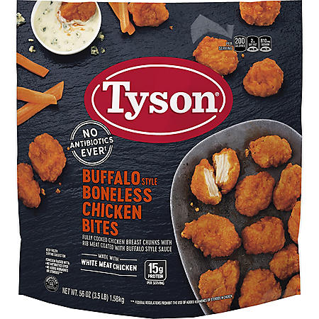 Tyson Buffalo Style Boneless Chicken Bites, Frozen (3.5 lb.)
