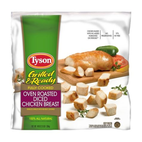 Tyson Grilled & Ready Diced Chicken Breast (3 lbs.)