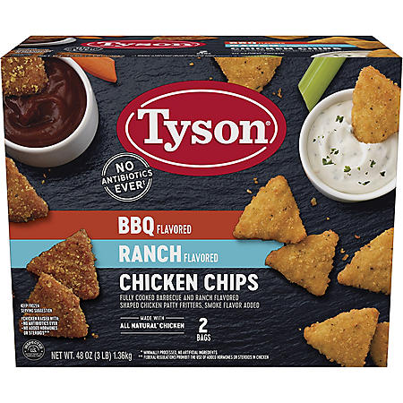 Tyson BBQ and Ranch Flavored Chicken Chips Variety Pack (3 lbs.)