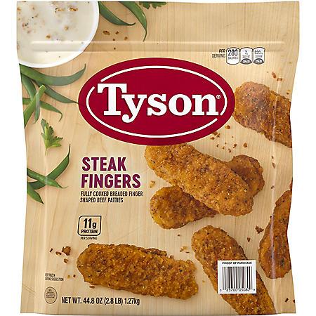 Tyson Breaded Steak Fingers (2.8 lbs.)