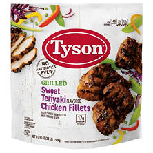 Tyson Grilled & Ready Fully Cooked Frozen Chicken Fillets, Sweet Teriyaki (3.5 lb.)