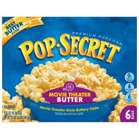 Pop Secret Microwave Popcorn - Movie Theater Butter - 6 bags