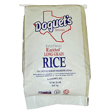 Doguet's Long Grain White Rice - 20 lb. - Sam's Club
