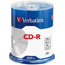 Verbatim CD-R 80MIN 700MB 52X, 100ct.