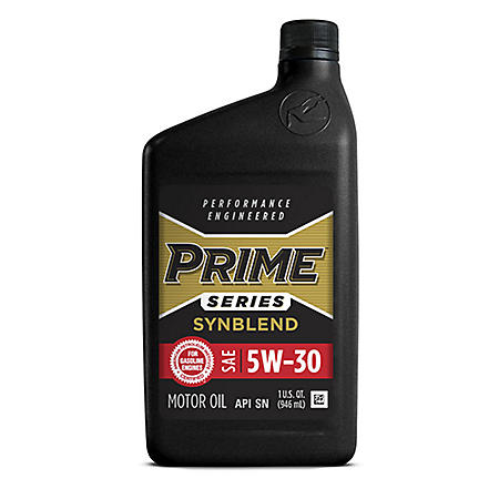 Prime Series Conventional Motor Oil SAE 5W-30 (12 pk., 1-qt. bottles)