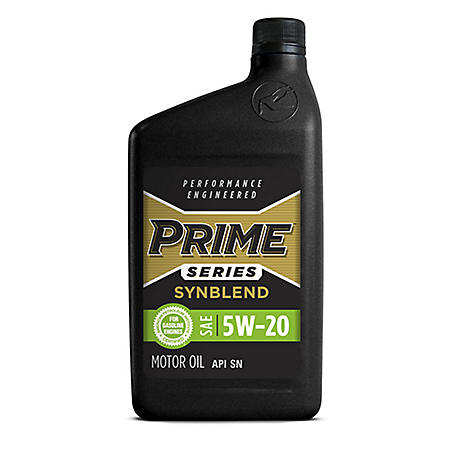 Prime Series Conventional Motor Oil SAE 5W-20 (12 pk., 1-qt. bottles)