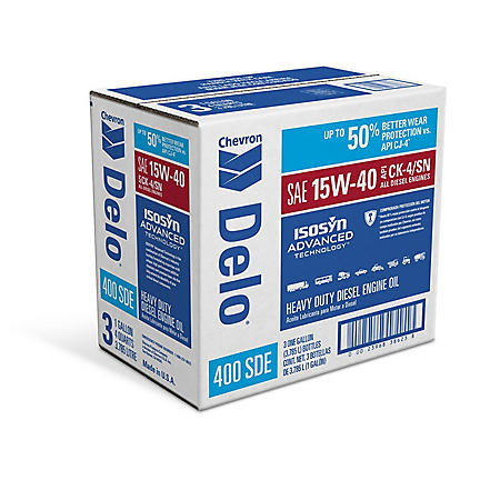Delo 400 SDE SAE CK4 15W40 Heavy Duty Motor Oil - 1 Gallon Bottles - 3 Pack