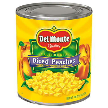 Del Monte Diced Peaches (106 oz. can)