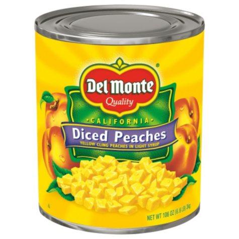Del Monte Diced Peaches (106 oz.)