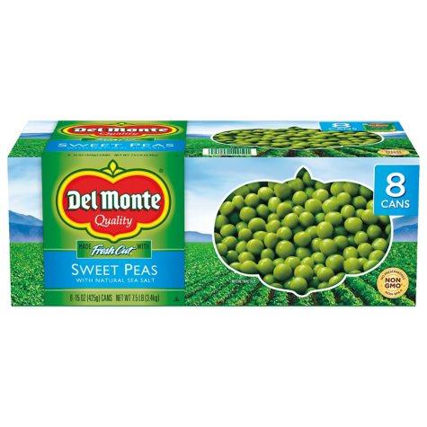 Del Monte Sweet Peas - 15 oz. cans - 8 pk.