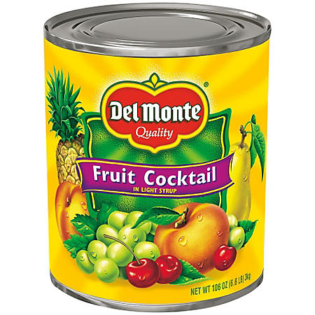 Del Monte Fruit Cocktail in Light Syrup (106 oz.)