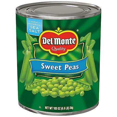Del Monte Sweet Peas (105 oz. can)