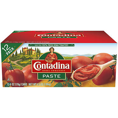 Contadina® Tomato Paste - 6 oz. cans - 12 ct.