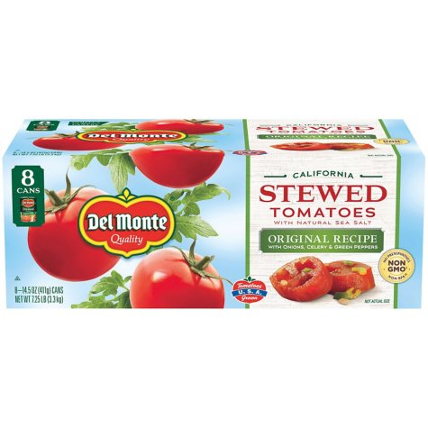 Del Monte Stewed Tomatoes  (15.4 oz. can, 8 ct.)