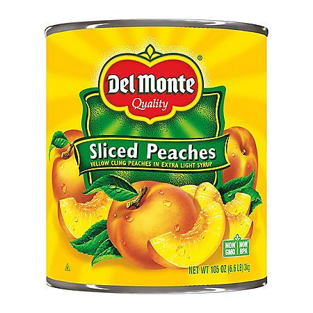 Del Monte Lite Sliced Peaches (105 oz.)