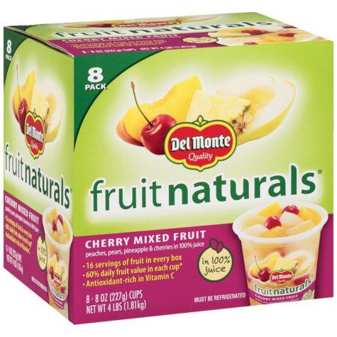 Del Monte? Fruit Naturals Cherry Mixed Fruit - 8/8 oz.