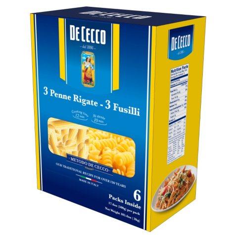 De Cecco Pasta, Variety Pack (17.6 oz. ea., 6 pk.)