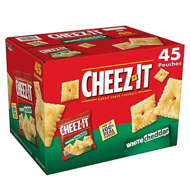 cheez it white cheddar snack packs 1 5 oz 45 ct sam s club