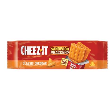 Cheez-It Sandwich Crackers Classic Cheddar (18 ct.)