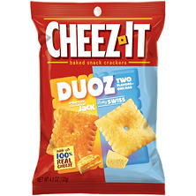 Cheez-It Duoz Baby Swiss Cheddar Jack Baked Snack Crackers (4.3 oz.)