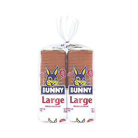 Bunny Large White Enriched Bread - 2/20oz
