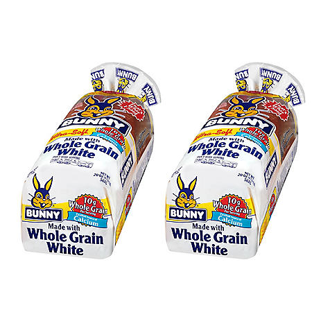 Bunny White Whole Grain Bread (20 oz., 2 pk.)