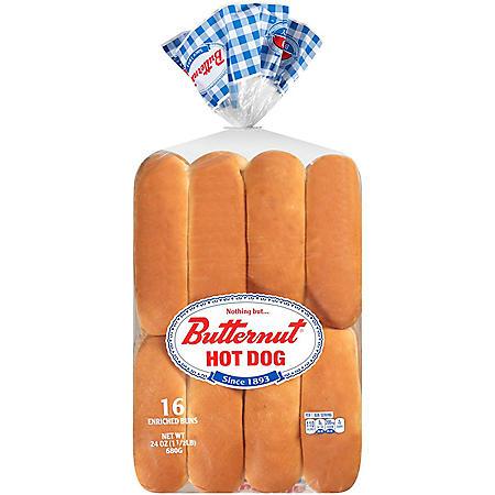 White Hot Dog Buns - 2/8 ct