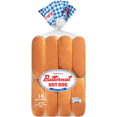 White Hot Dog Buns - 2/8 ct