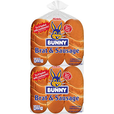 Bunny Brat and Sausage Buns (28 oz., 12 ct.)