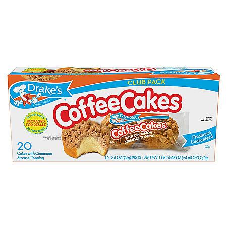 Drake's Coffee Cakes Club Pack (2.6oz / 10pk)