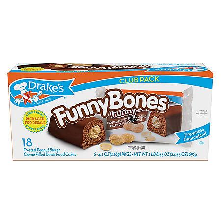 Drake's Funny Bones Club Pack (4.09oz / 6pk)
